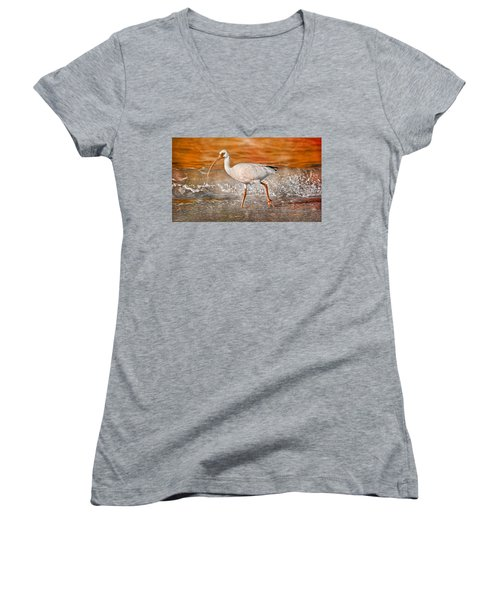 White Ibis Stroll Women's V-Neck T-Shirt