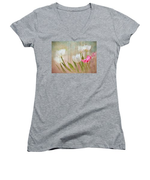 White Lily Show Women's V-Neck (Athletic Fit)