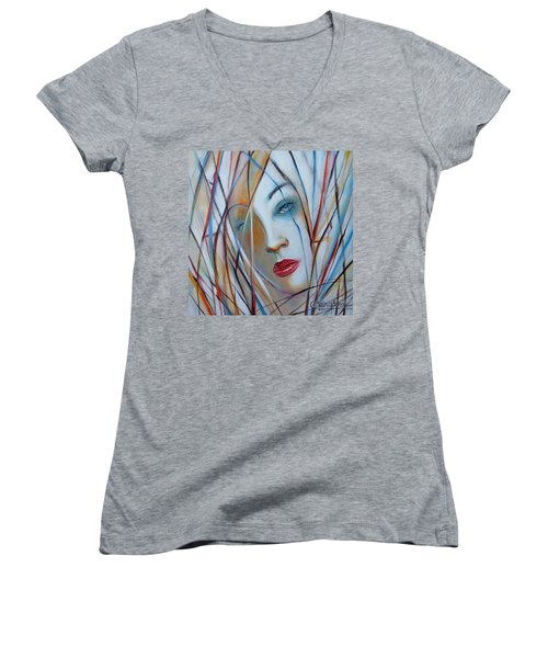 White Nostalgia 010310 Women's V-Neck