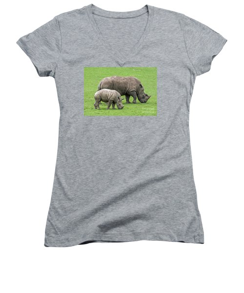 White Rhino 8 Women's V-Neck (Athletic Fit)