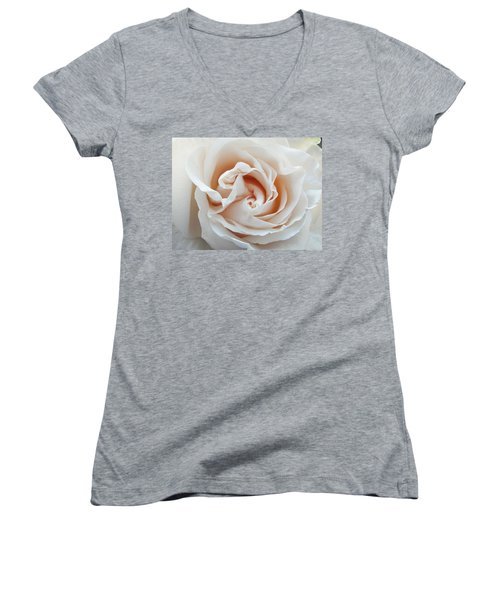 White Rose Women's V-Neck T-Shirt (Junior Cut) by Tiffany Erdman