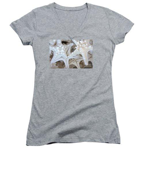 White Starfish Women's V-Neck