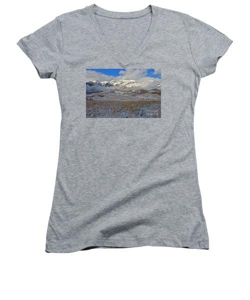 Whiterock Winter Mist Women's V-Neck T-Shirt