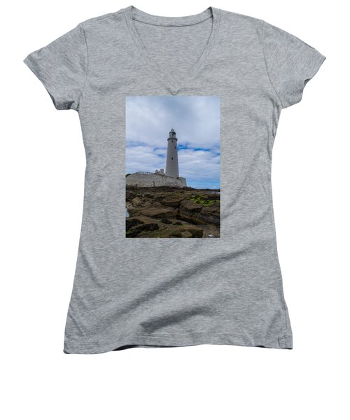 Whitley Bay St Mary's Lighthouse Women's V-Neck