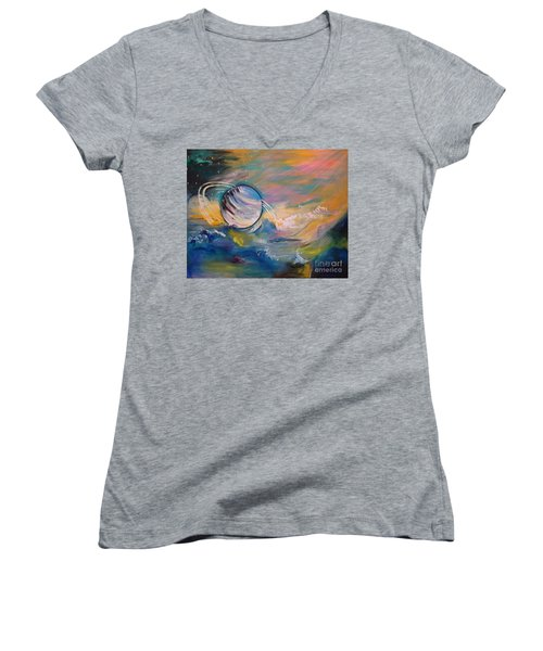 Who But You Could Leave A Trail Of Galaxies Women's V-Neck (Athletic Fit)