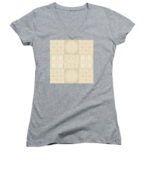 Wicker Quilt Women's V-Neck