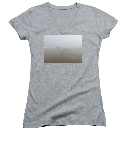 Wilbur By The Sea 1 Women's V-Neck (Athletic Fit)
