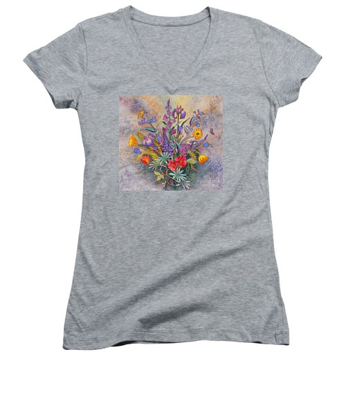 Wildflowers Of Alaska II Women's V-Neck (Athletic Fit)