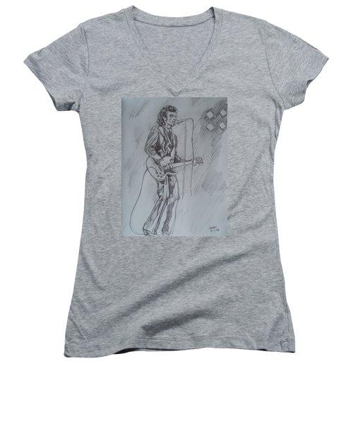 Willy Deville - Steady Drivin' Man Women's V-Neck T-Shirt