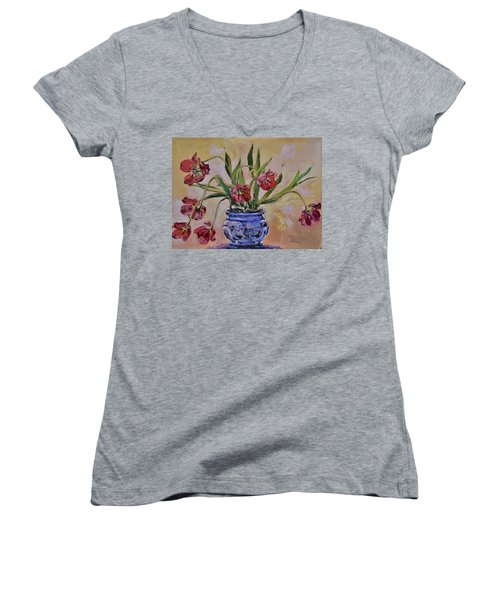 Wilting Tulips Women's V-Neck T-Shirt