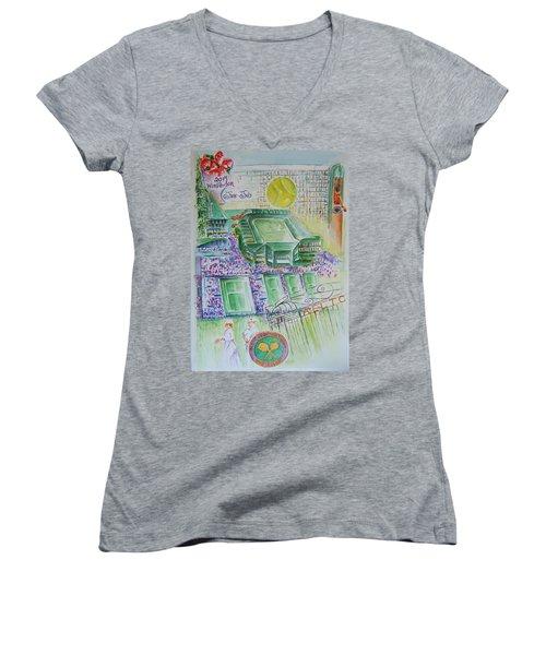 Wimbledon 2014 Women's V-Neck T-Shirt