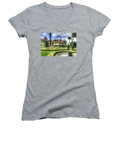 Winchester Mystery House Women's V-Neck T-Shirt