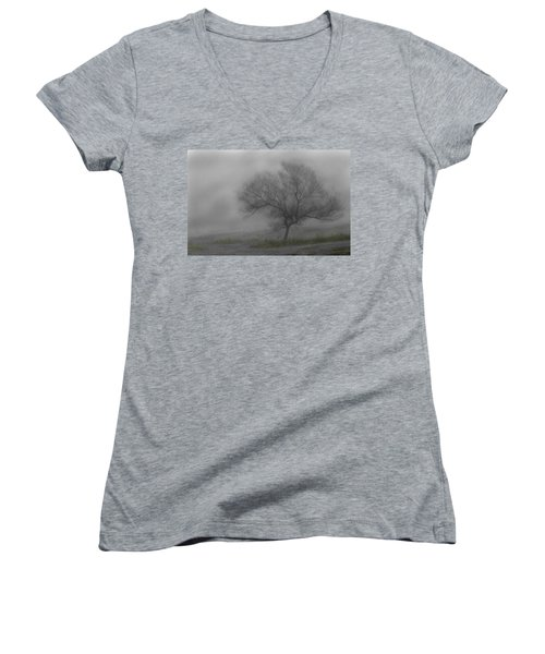 Wind Swept Tree Women's V-Neck