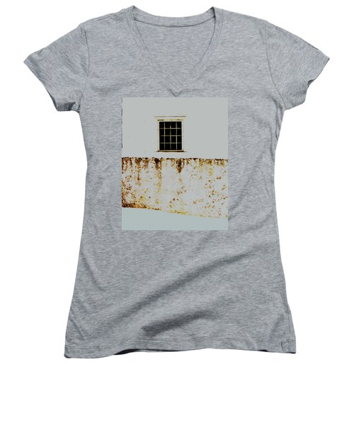 Window Wall And Snow Women's V-Neck