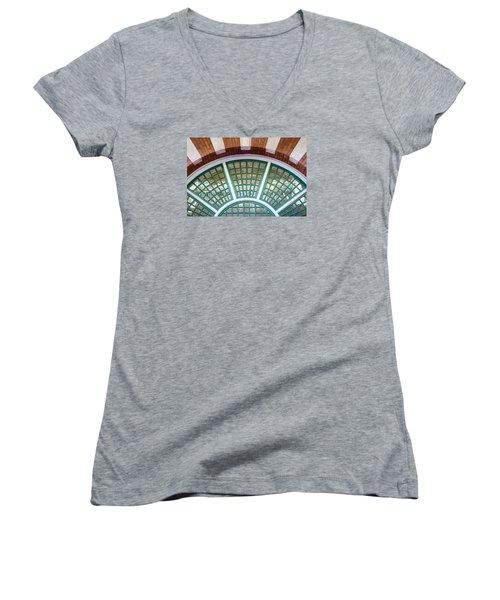 Windows Of Ybor Women's V-Neck T-Shirt (Junior Cut) by Carolyn Marshall