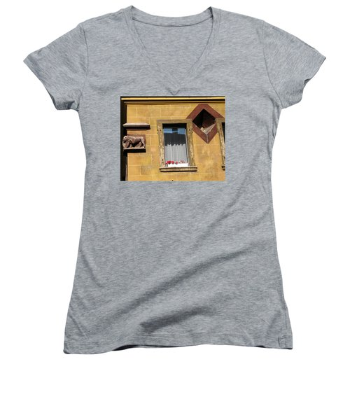 Windows To Budapest Women's V-Neck T-Shirt