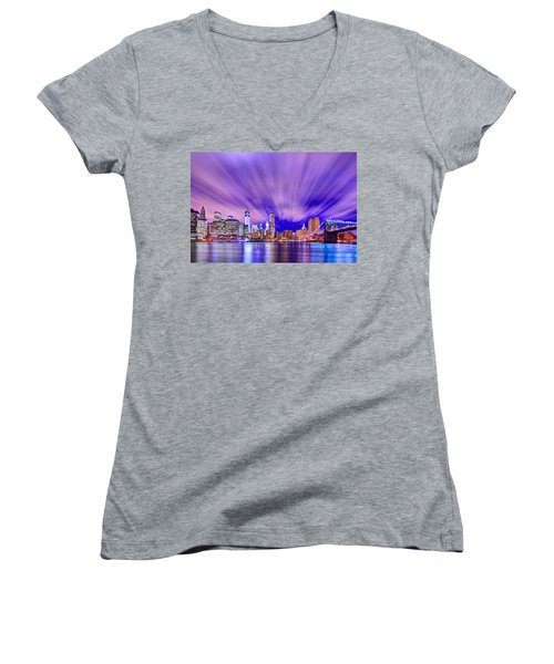 Winds Of Lights Women's V-Neck T-Shirt