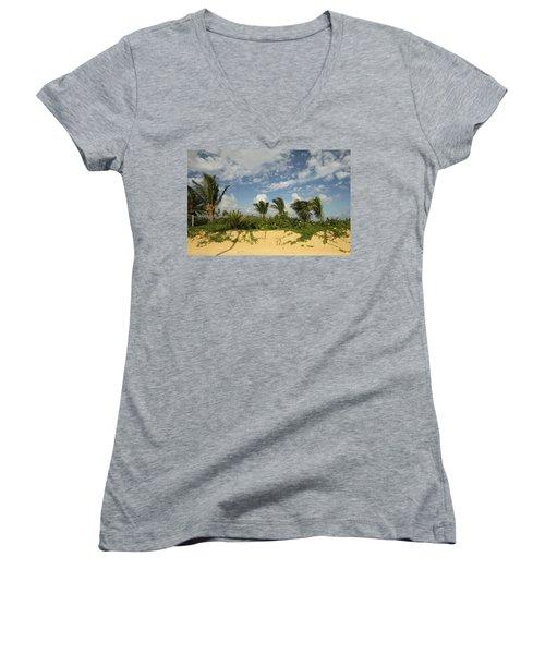 Windy Palms Women's V-Neck T-Shirt