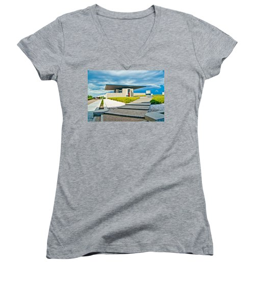 Winery Modernism Women's V-Neck T-Shirt