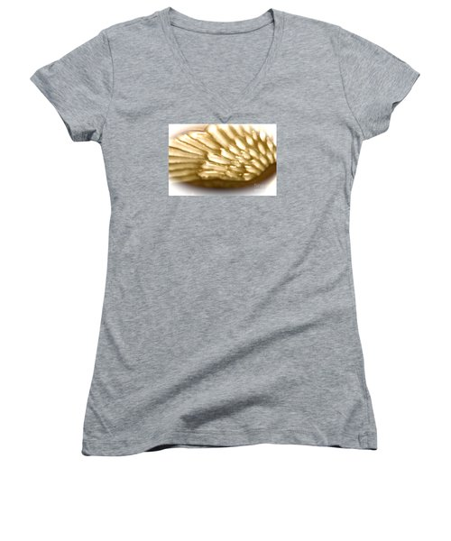 Women's V-Neck T-Shirt (Junior Cut) featuring the photograph Winged Truth  by Cathy Dee Janes