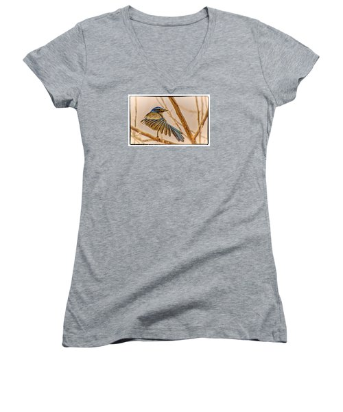 Winging It Women's V-Neck T-Shirt (Junior Cut) by Janis Knight