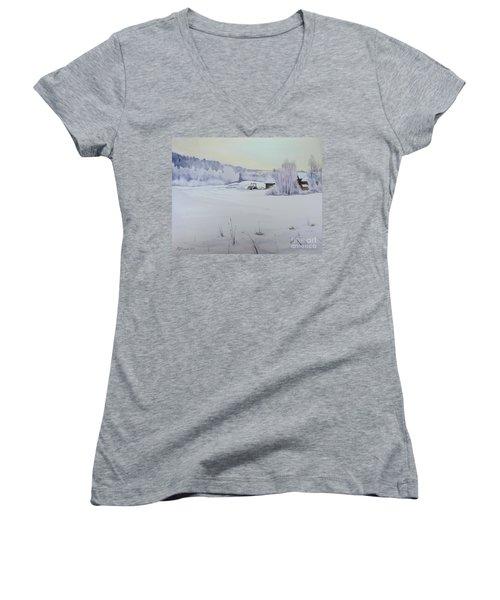 Winter Blanket Women's V-Neck T-Shirt