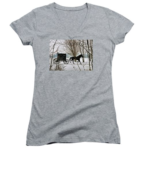 Winter Buggy Women's V-Neck (Athletic Fit)