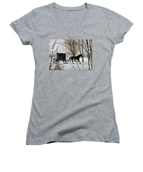 Winter Buggy Women's V-Neck T-Shirt