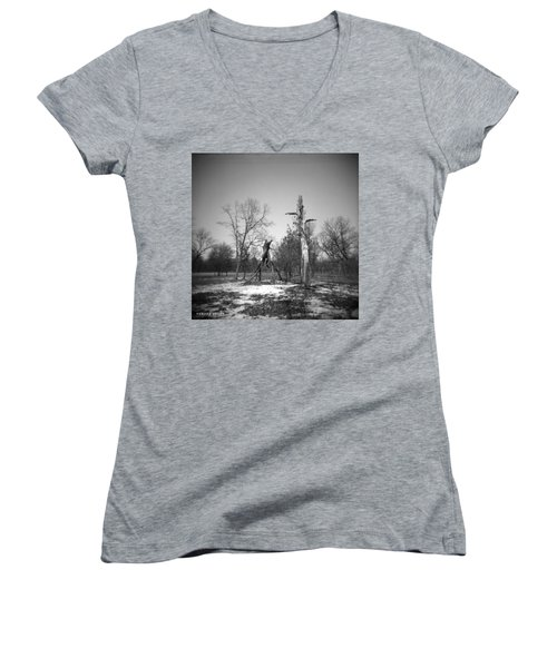 Winter Forest Series 4 Women's V-Neck (Athletic Fit)