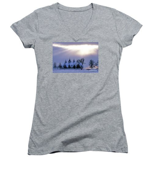Winter In The Bluegrass - Fs000286 Women's V-Neck (Athletic Fit)