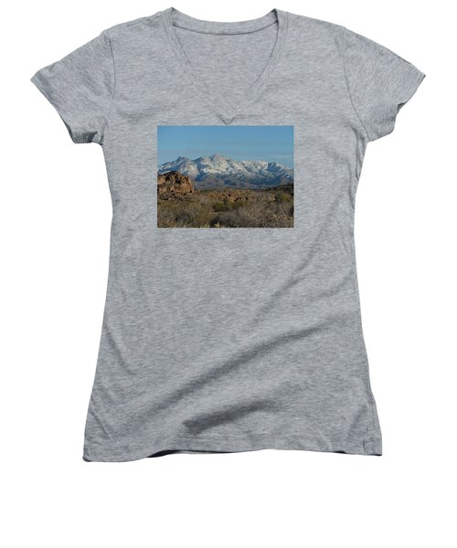 Winter In The Haulapai's Women's V-Neck (Athletic Fit)
