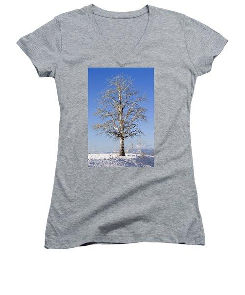 Winter Women's V-Neck T-Shirt