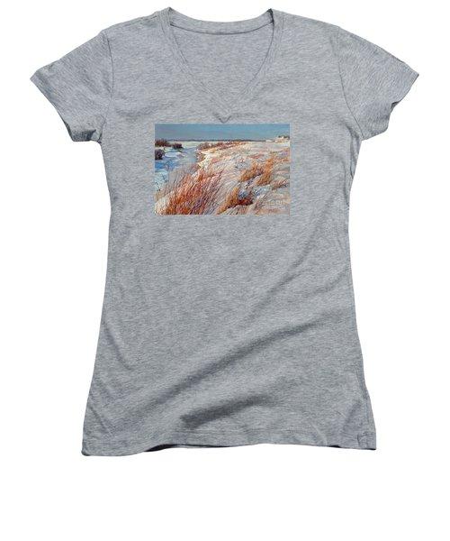 Winter River Women's V-Neck T-Shirt