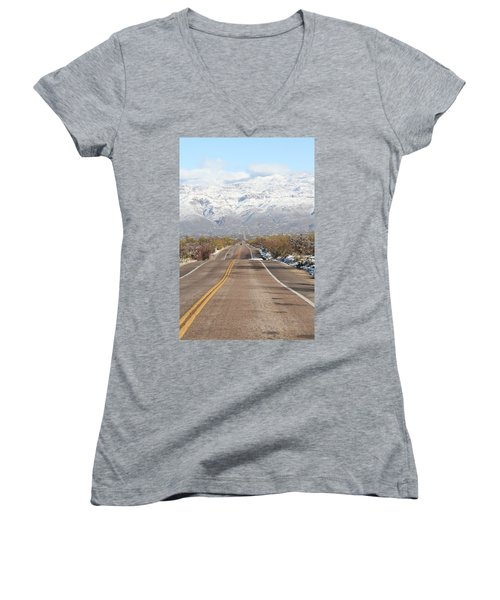 Winter Road Women's V-Neck T-Shirt