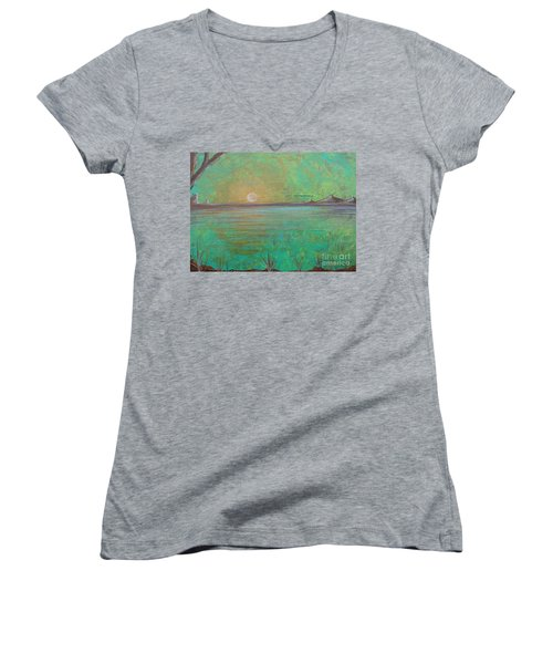 Winter Solitude 7 Women's V-Neck (Athletic Fit)