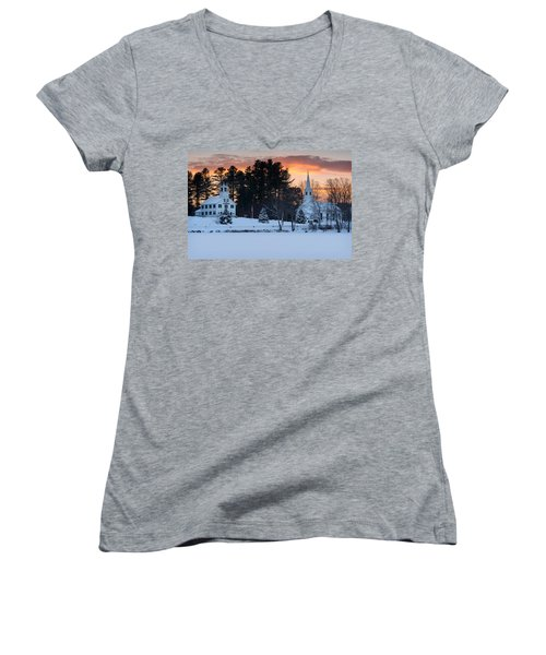 Winter Sunset Women's V-Neck