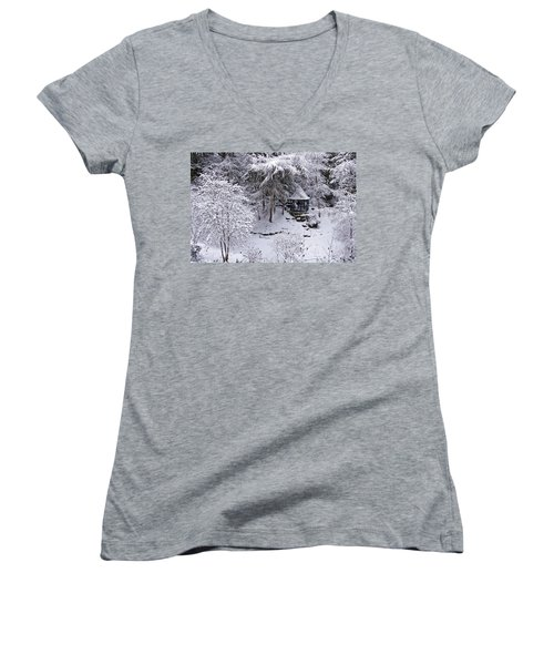 Winter Wonderland Women's V-Neck