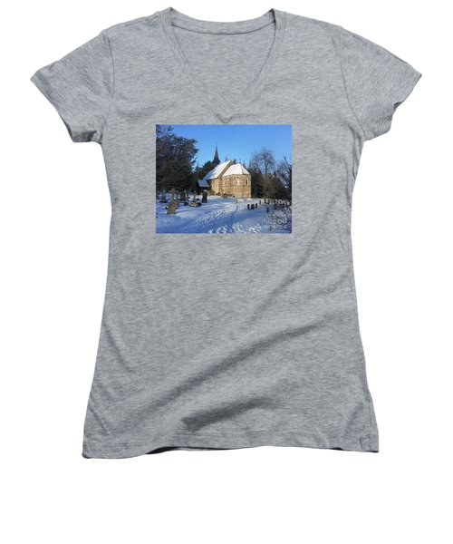 Winter Worship Women's V-Neck (Athletic Fit)