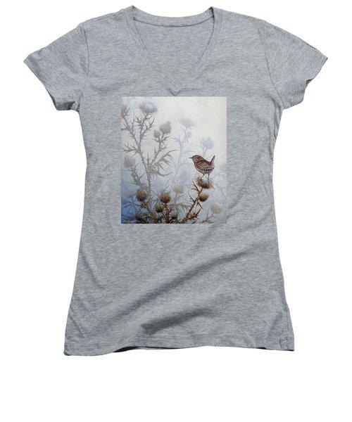 Winter Wren Women's V-Neck T-Shirt