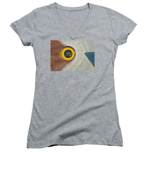 Wise Owl Original Painting Women's V-Neck (Athletic Fit)