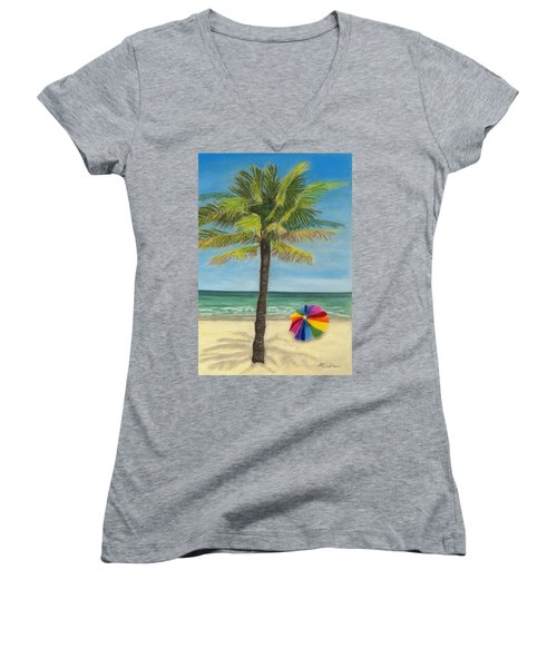 Wish I Was There Women's V-Neck (Athletic Fit)