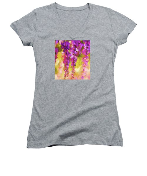 Wisteria Dreams Women's V-Neck (Athletic Fit)