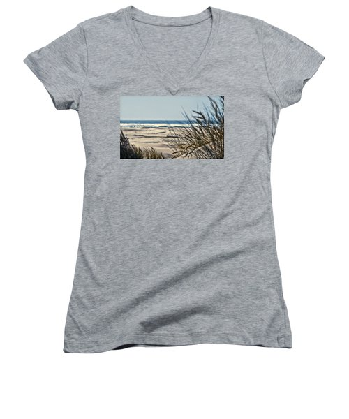 Women's V-Neck T-Shirt (Junior Cut) featuring the photograph With Every Breath by Janie Johnson