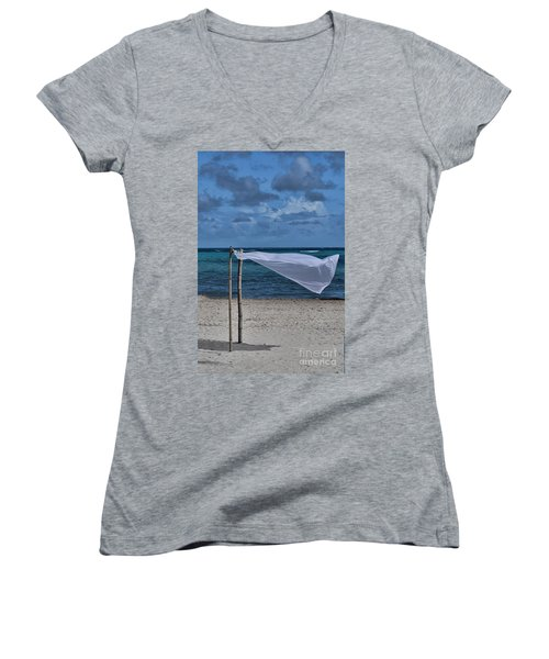 With The Wind Women's V-Neck (Athletic Fit)