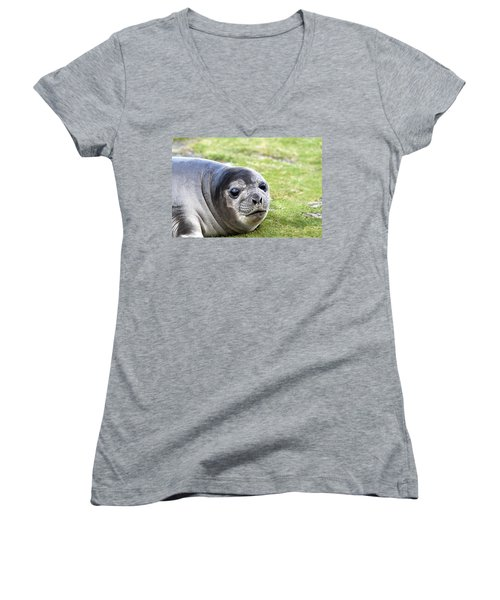 Woeful Weaner Women's V-Neck (Athletic Fit)