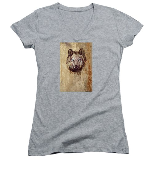 Wolf Women's V-Neck T-Shirt