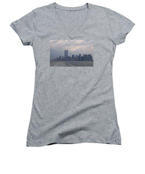 World Trade Center May 2001 Women's V-Neck T-Shirt