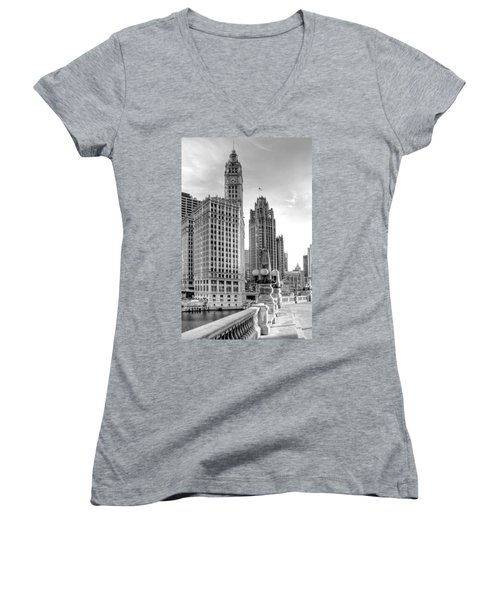 Wrigley And Tribune Women's V-Neck (Athletic Fit)
