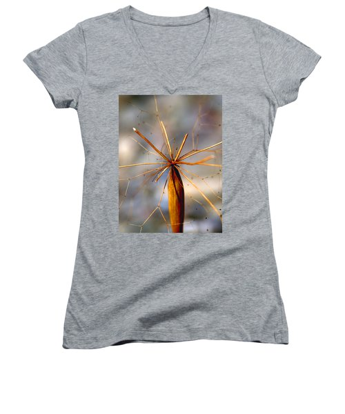 Women's V-Neck T-Shirt (Junior Cut) featuring the photograph Wth? by Joe Schofield