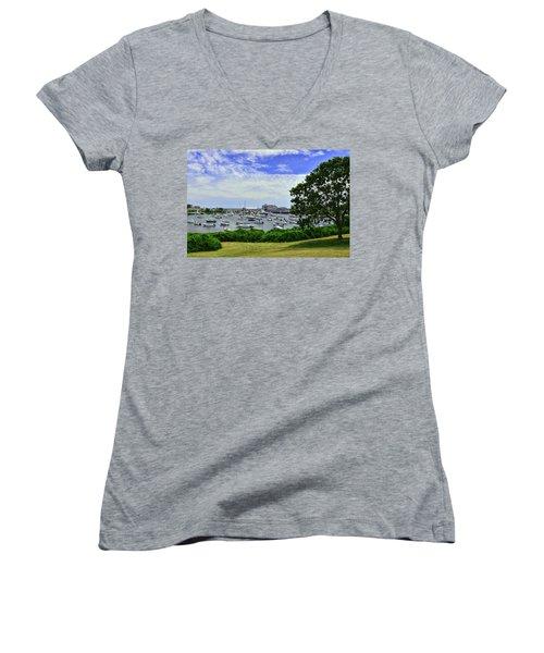 Wychmere Harbor Women's V-Neck T-Shirt (Junior Cut) by Allen Beatty